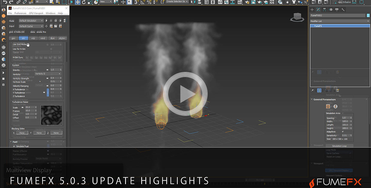 FumeFX 5.0.3 update highlights